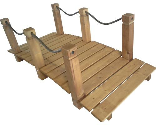 Teichbrücke Holz 152x67x50 cm birke
