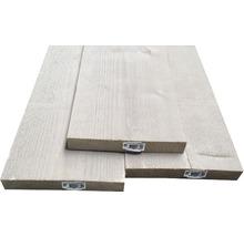 Planche d'échafaudage en bois vintage grise 30x195x2500 mm