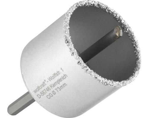 Bohrkrone Wolfcraft Hartmetall Ø 73 mm inkl. Schaft, Bohrer