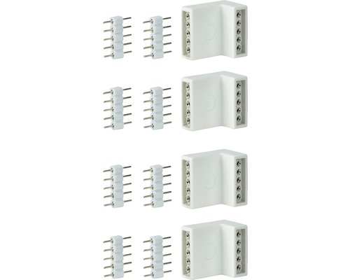 MaxLED Edge-Connector 4er Pack weiss