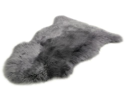 Peau de mouton gris foncé 60x90cm
