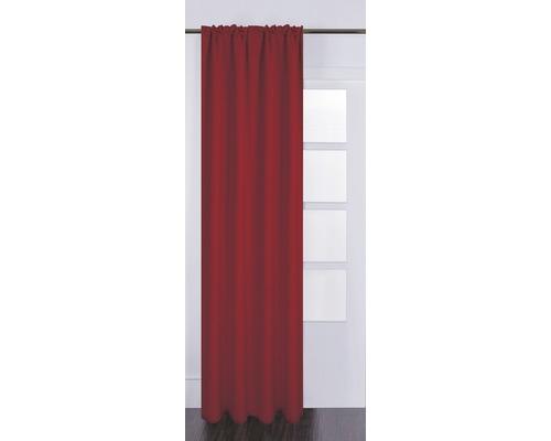 Vorhang mit Universalband Silk off rot 130x280 cm