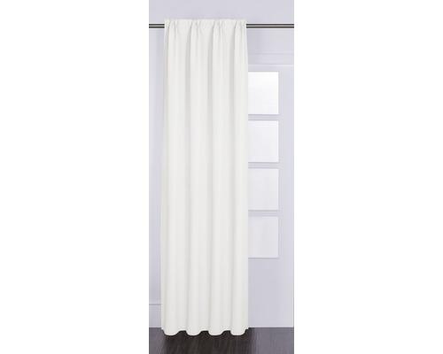 Vorhang mit Universalband Canvas weiss 140x280 cm