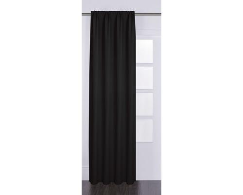 Vorhang mit Universalband Canvas schwarz 140x280 cm