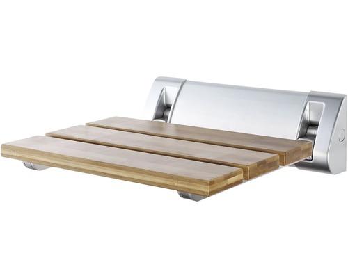 Duschsitz klappbar Bambus braun